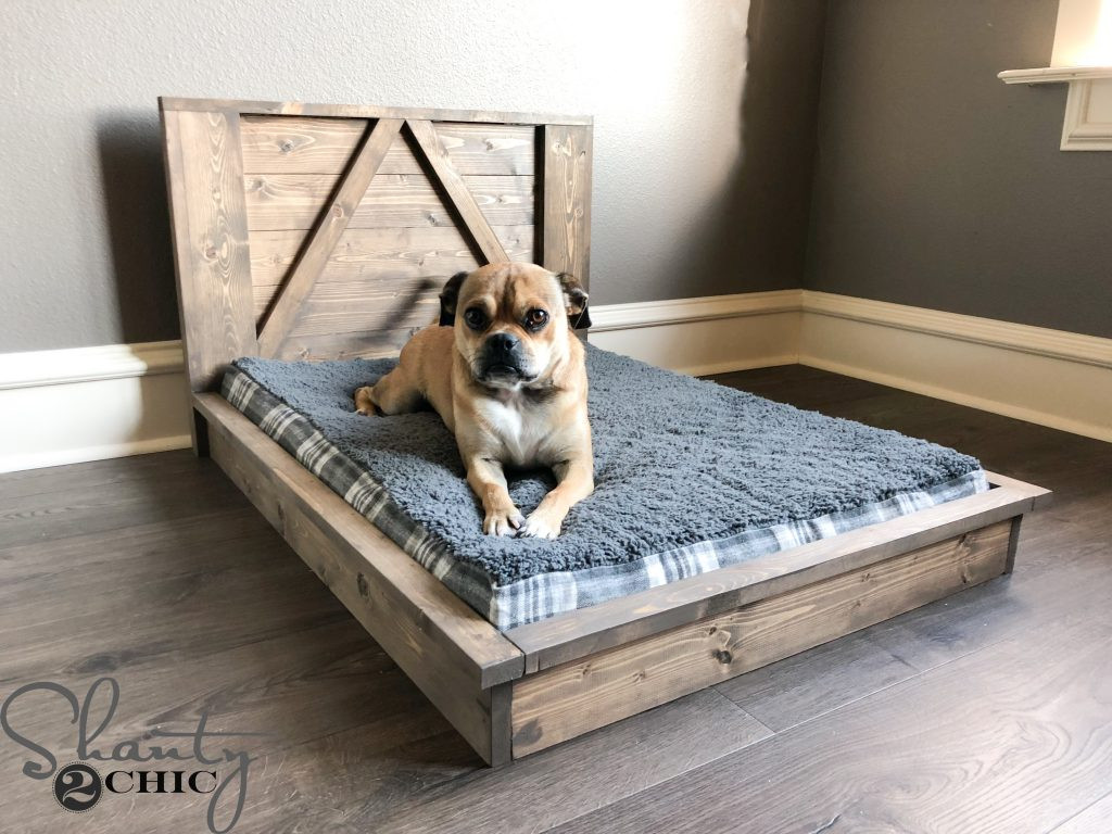 Best ideas about DIY Dog Beds . Save or Pin DIY Farmhouse Dog Bed For Man s Best Friend Shanty 2 Chic Now.