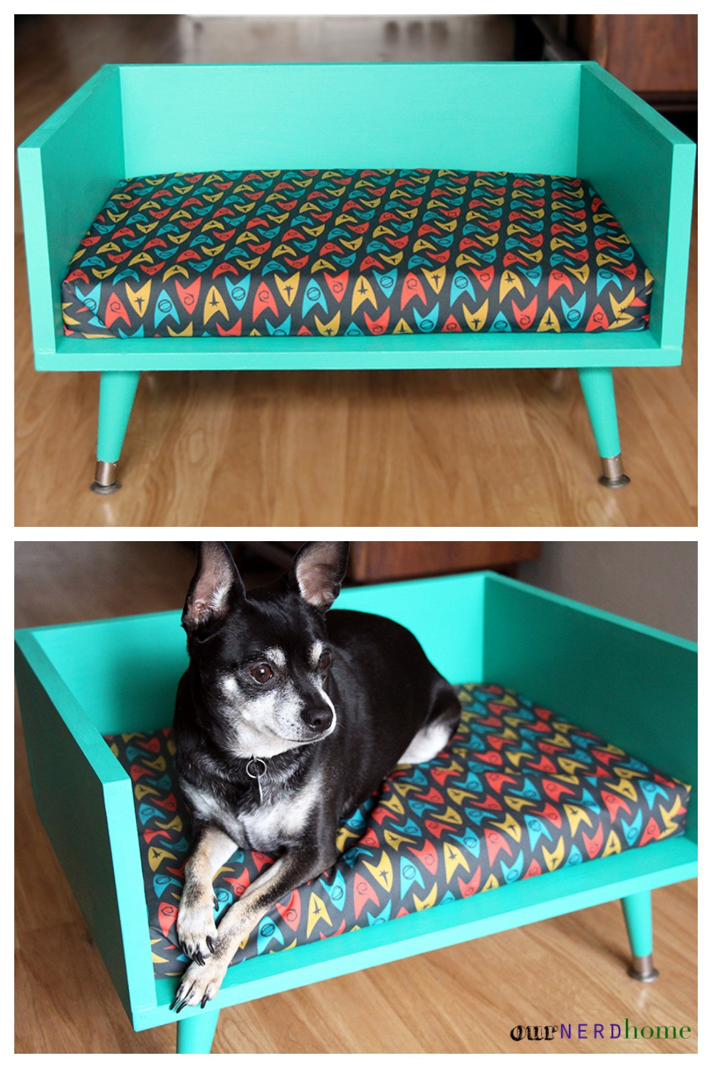 Best ideas about DIY Dog Beds . Save or Pin DIY Mid Century Style Pet Bed with a Touch of Star Trek Now.