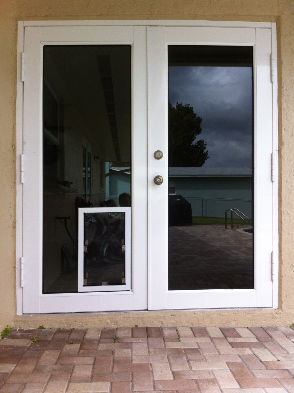 Best ideas about DIY Dog Door Sliding Glass Door . Save or Pin pet door in impact resistant glass wel e to atlantic pet Now.