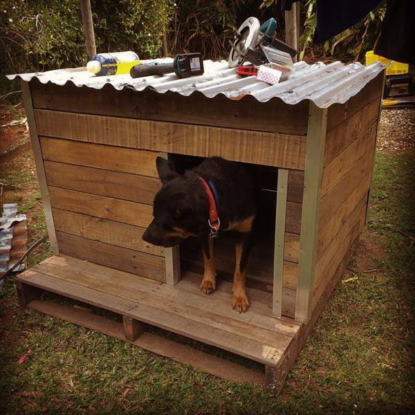 Best ideas about DIY Dog House Ideas . Save or Pin DIY Recycled Pallet Dog House Now.