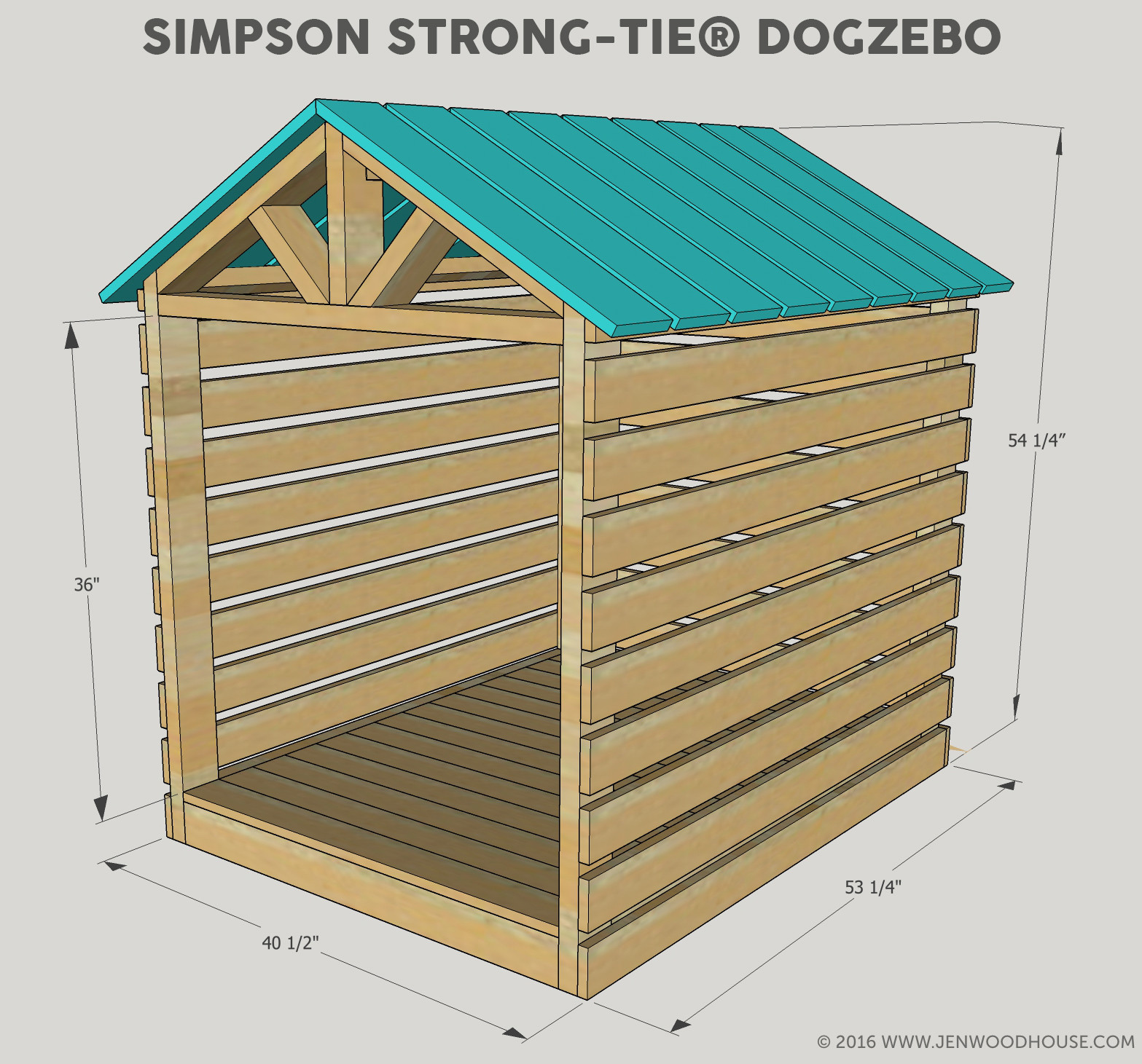 Best ideas about DIY Dog House Plans . Save or Pin DIY Doghouse Gazebo Now.