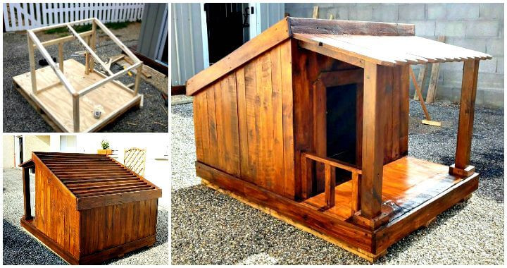 Best ideas about DIY Dog House Plans . Save or Pin Pallet Dog House Step by Step Plan DIY & Crafts Now.