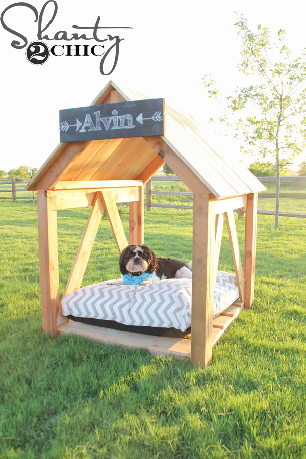 Best ideas about DIY Dog House Plans . Save or Pin DIY Dog House Shanty 2 Chic Now.