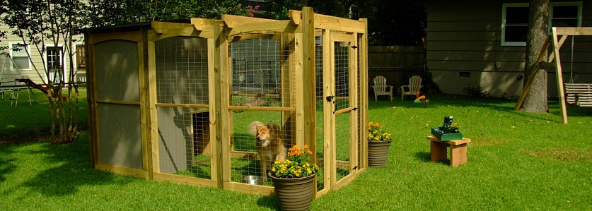 Best ideas about DIY Dog Run . Save or Pin DIY Network Project Dog Run with Pergola Top and House Now.