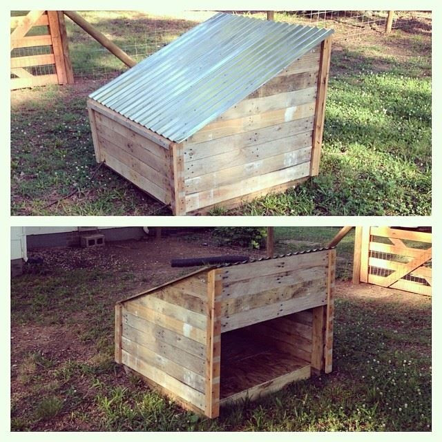 Best ideas about DIY Dog Shelter . Save or Pin Pallet Wood Doghouse DIY Doghouse reclaimed pallets Now.