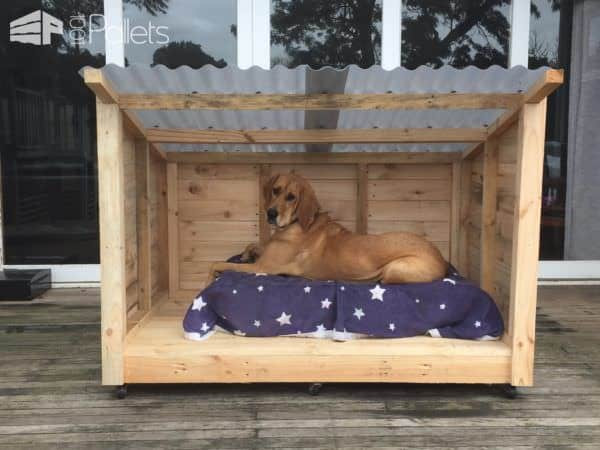 Best ideas about DIY Dog Shelter . Save or Pin Roomy Pallet Dog Kennel • 1001 Pallets Now.