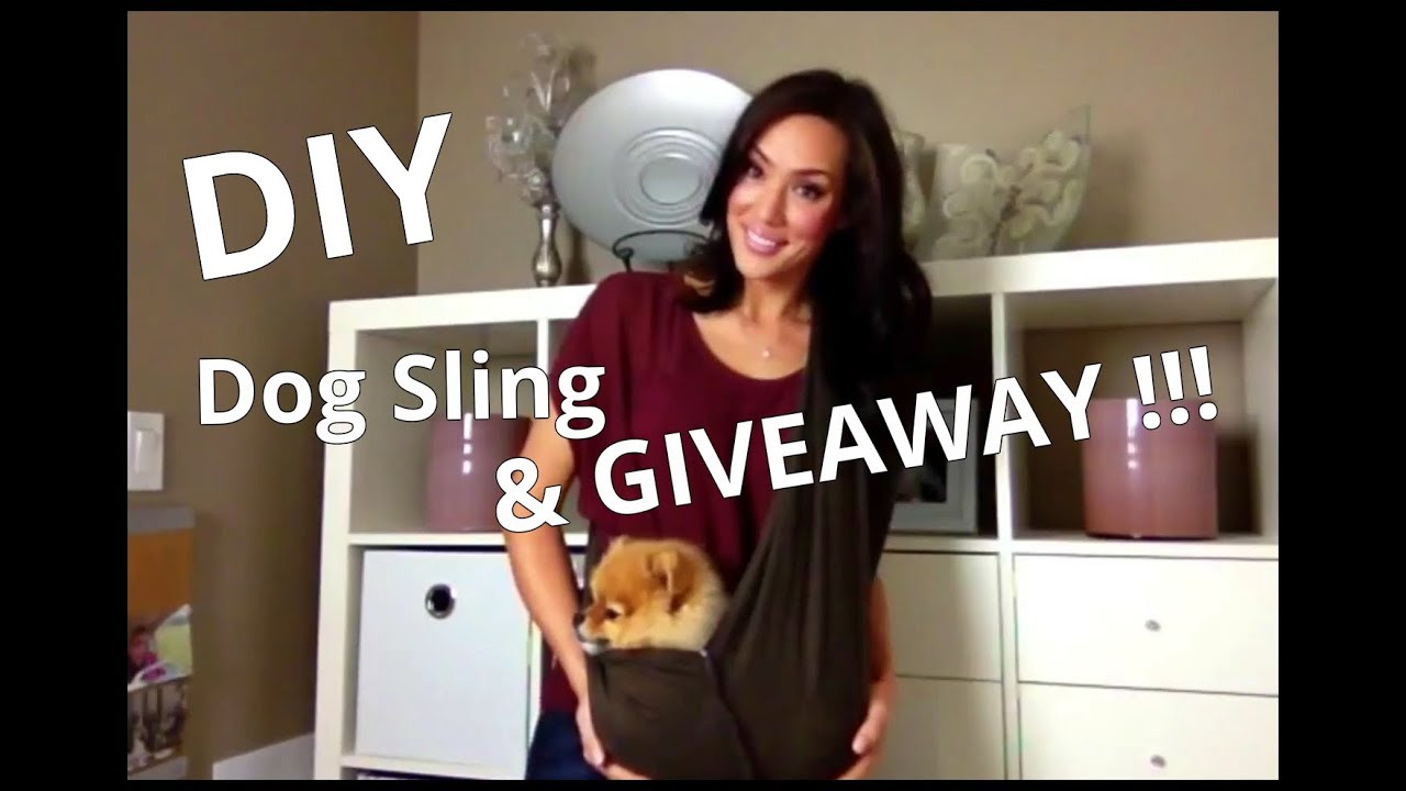 Best ideas about DIY Dog Sling . Save or Pin Dog Sling DIY & GIVEAWAY Now.