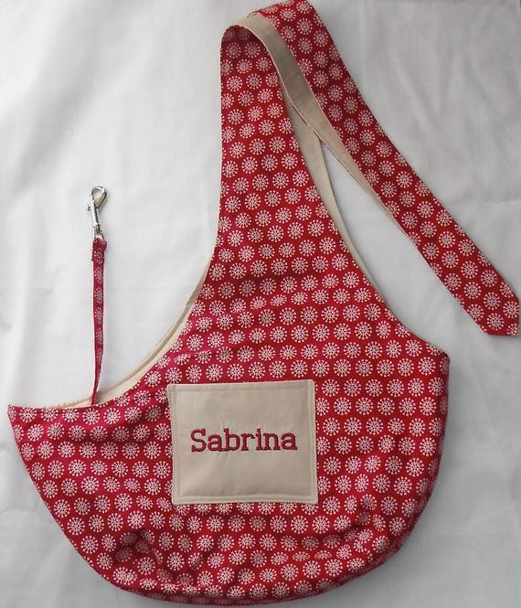 Best ideas about DIY Dog Sling . Save or Pin Pet Sling Embroidered With Your Dogs Name For Dogs Up To 6lb Now.