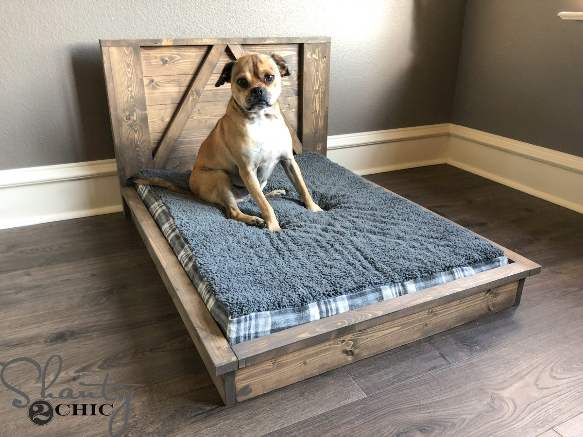 Best ideas about DIY Doggie Bed . Save or Pin DIY Farmhouse Dog Bed For Man s Best Friend Shanty 2 Chic Now.