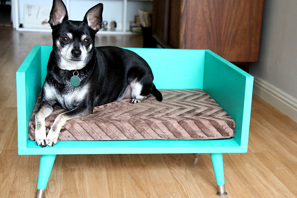 Best ideas about DIY Doggie Bed . Save or Pin DIY Mid Century Style Pet Bed with a Touch of Star Trek Now.
