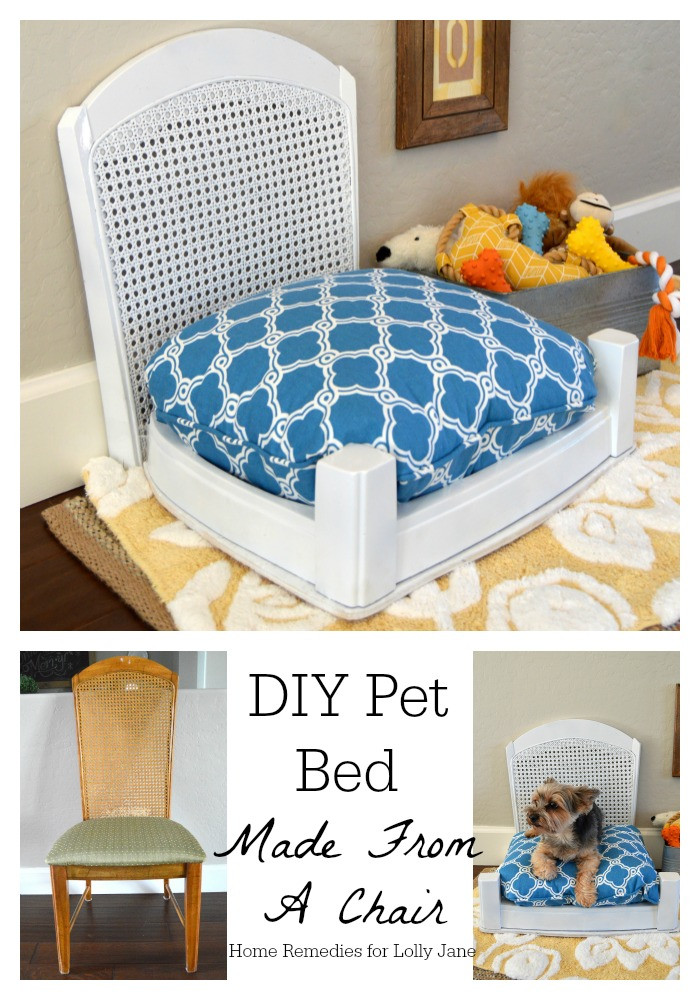 Best ideas about DIY Doggie Bed . Save or Pin DIY pet bed made from a chair Now.