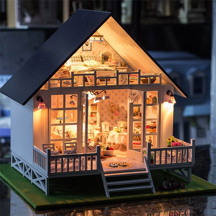 Best ideas about DIY Dollhouse Kit . Save or Pin 1 24 Miniature Dollhouse DIY Kit Nordic Holiday Villa with Now.