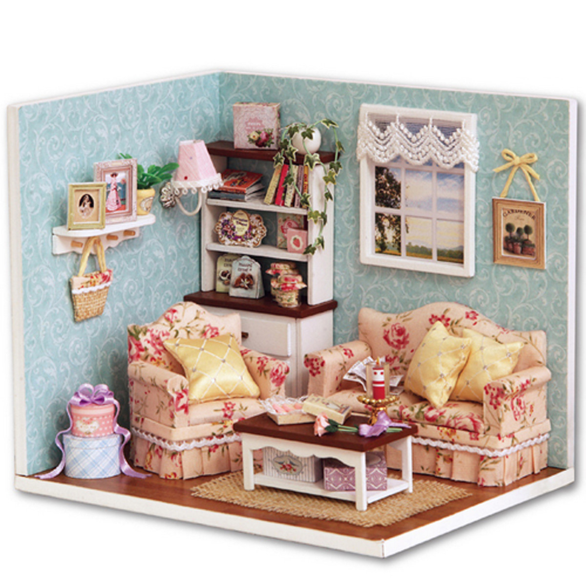 Best ideas about DIY Dollhouse Kit . Save or Pin Dollhouse Miniature DIY Kit Happy Time Room With Cover Now.