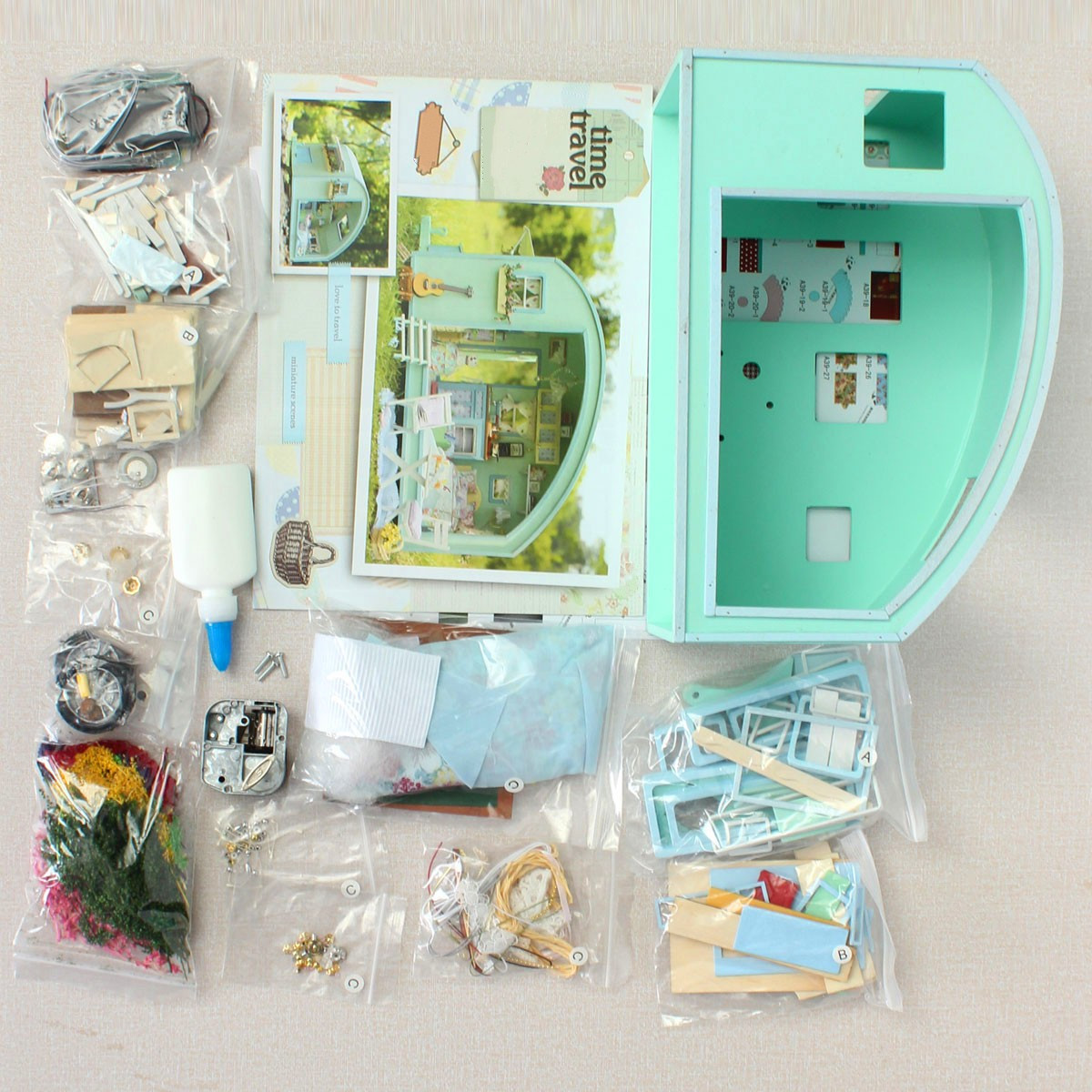 Best ideas about DIY Dollhouse Kit . Save or Pin Cuteroom DIY Wooden Dollhouse Miniature Kit Doll house LED Now.