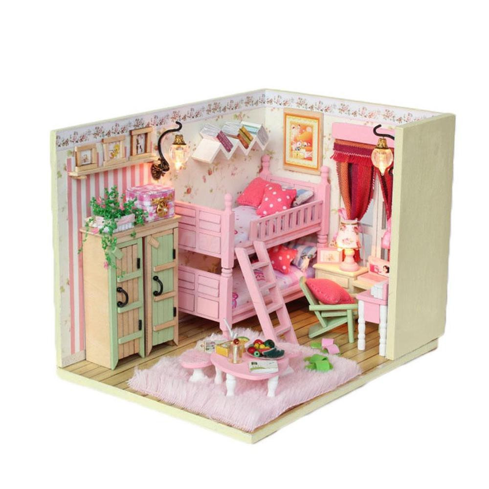 Best ideas about DIY Dollhouse Kit . Save or Pin DIY Doll House Girl s Bedroom Dollhouse Miniatures Now.