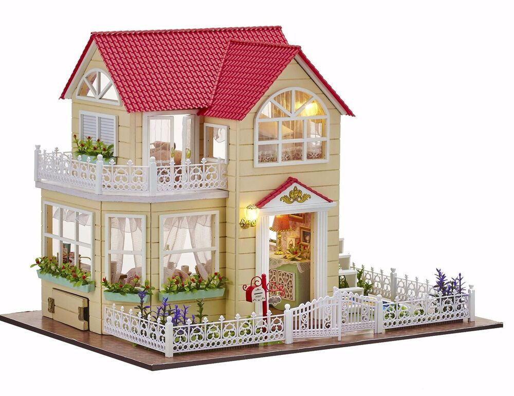 Best ideas about DIY Dollhouse Kit . Save or Pin New Dollhouse Miniature DIY Kit Dolls House With Furniture Now.