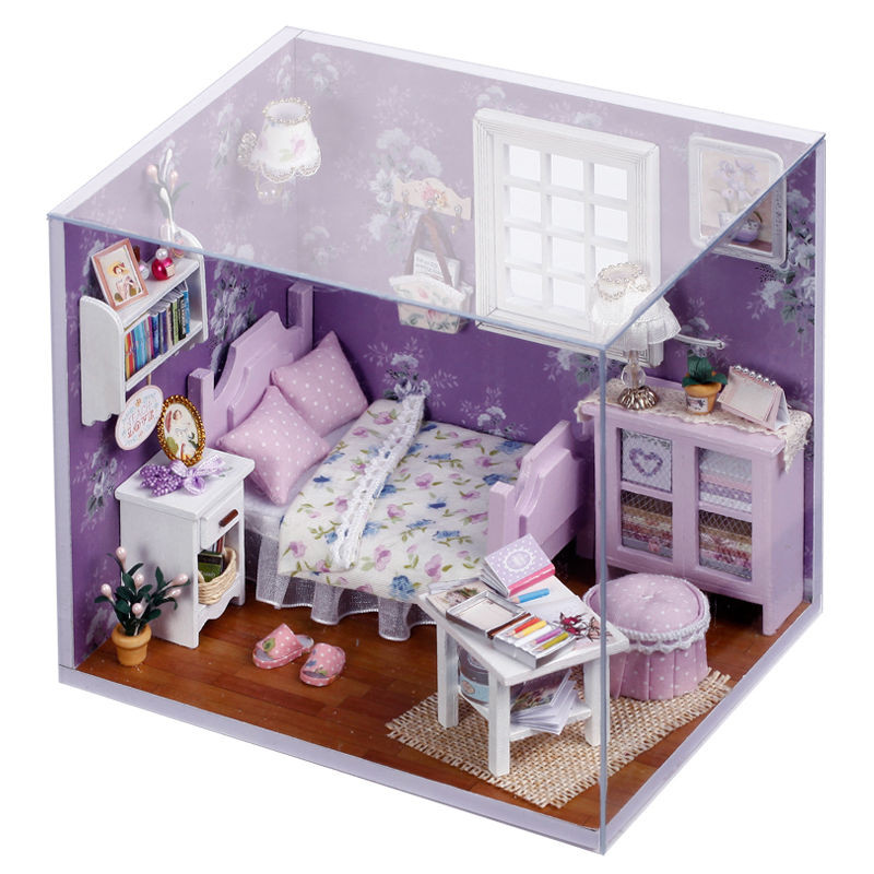 Best ideas about DIY Dollhouse Kit . Save or Pin New Dollhouse Miniature DIY Kit with Cover Wood Toy Dolls Now.