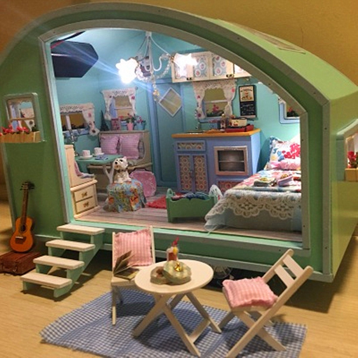 Best ideas about DIY Dollhouse Kit . Save or Pin DIY Wooden Dollhouse Miniature Kit Doll house LED Music Now.