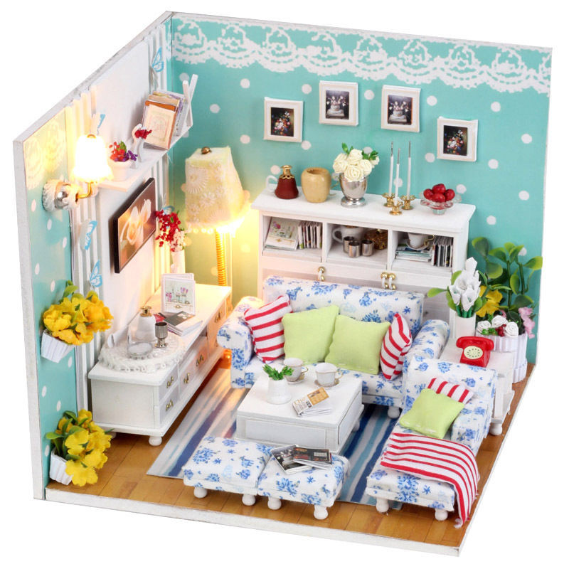 Best ideas about DIY Dollhouse Kit . Save or Pin Kits DIY Wood Dollhouse miniature with Furniture Dolls Now.
