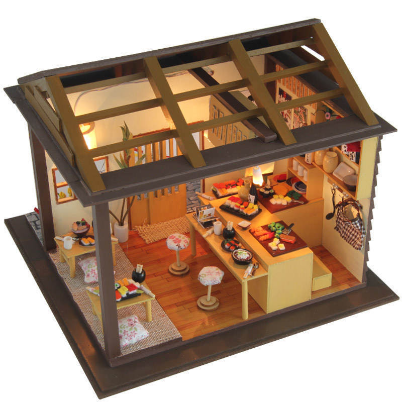 Best ideas about DIY Dollhouse Kit . Save or Pin Dollhouse Miniature DIY Kit w Light Cherry Blossom Sushi Now.