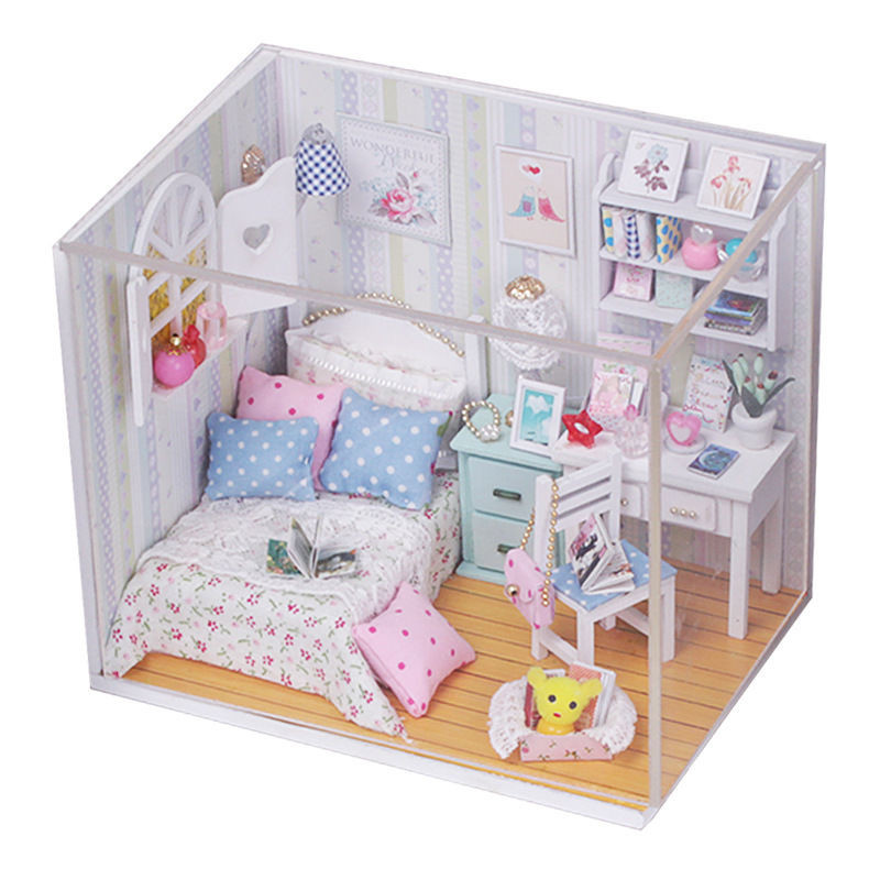 Best ideas about DIY Dollhouse Kit . Save or Pin New Kits DIY Wood Dollhouse miniature with LED Furniture Now.