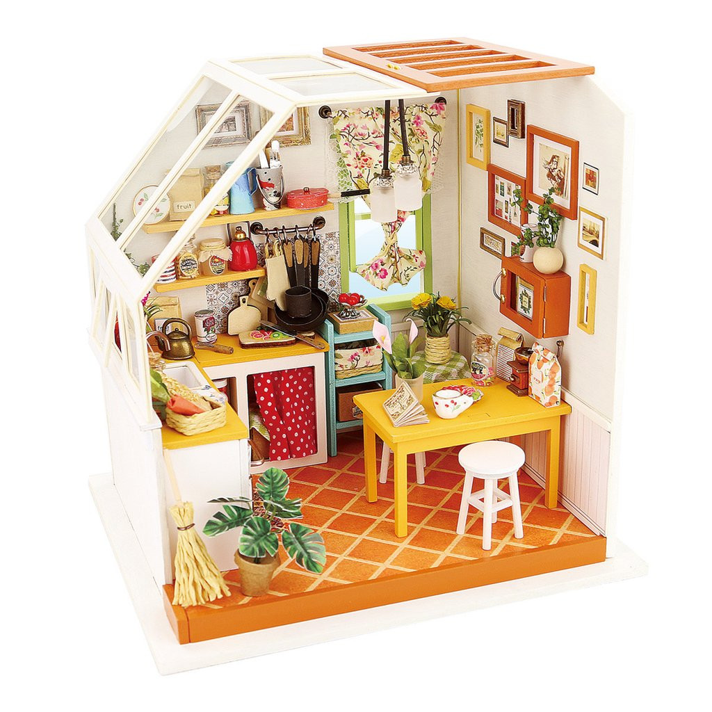 Best ideas about DIY Dollhouse Kit . Save or Pin Robotime DIY Miniature Dollhouse Kit DG105 Jason s Kitchen Now.