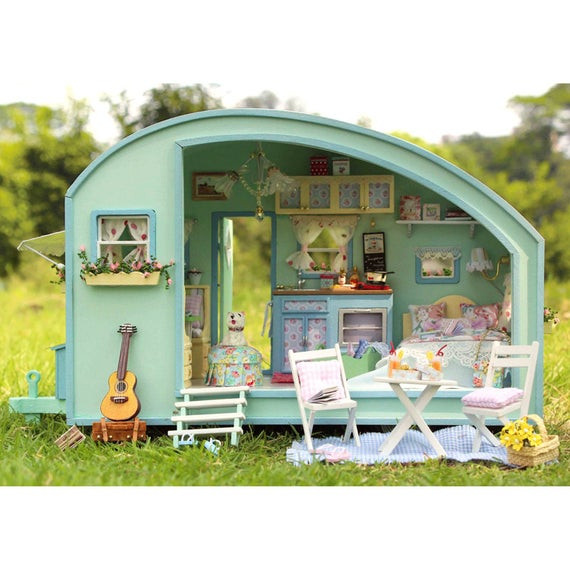 Best ideas about DIY Dollhouse Kit . Save or Pin DIY Dollhouse Miniature Traveller Time Dollhouse Kit Handcraft Now.