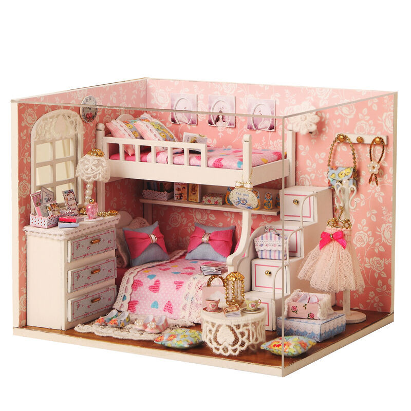 Best ideas about DIY Dollhouse Kit . Save or Pin Kits DIY Wood Dollhouse miniature with Furniture Doll Now.