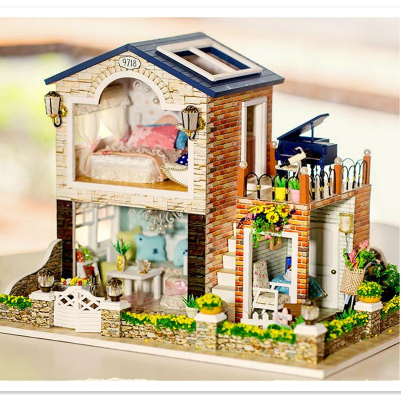 Best ideas about DIY Dollhouse Kit . Save or Pin Doll House Furniture Diy Miniature Dollhouse Kit 3D Wooden Now.