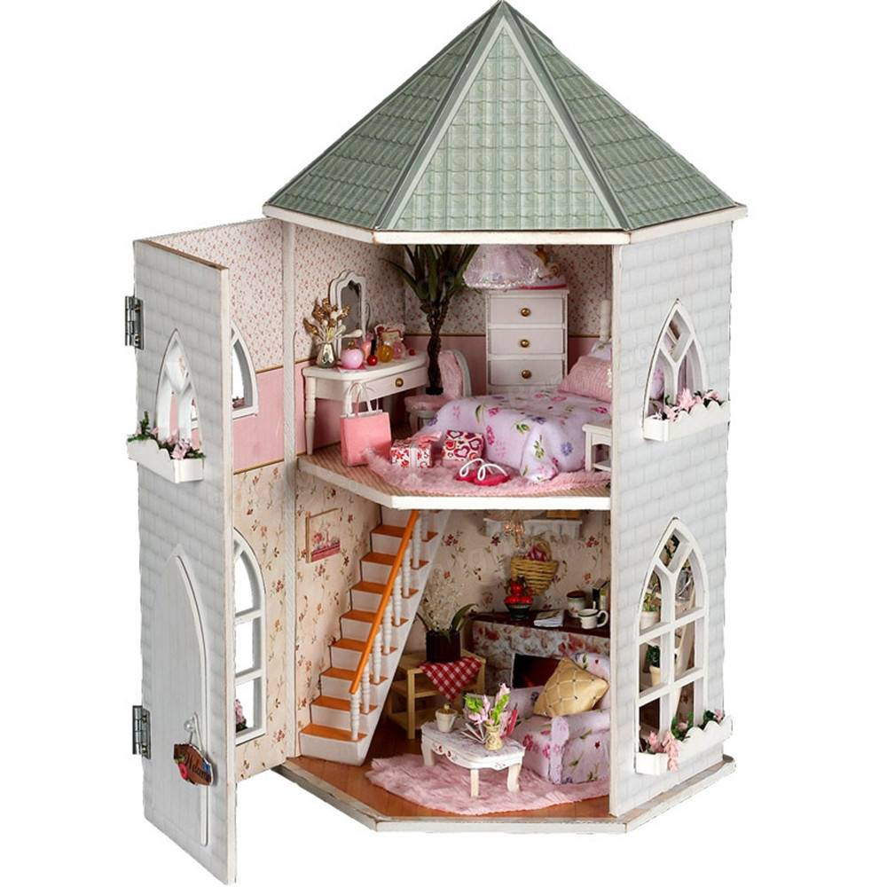 Best ideas about DIY Dollhouse Kit . Save or Pin Hoomeda Kits Love Castle DIY Wood Dollhouse Now.