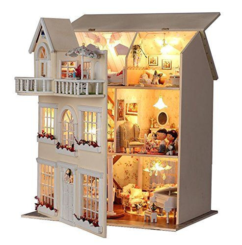 Best ideas about DIY Dollhouse Kit . Save or Pin Rylai Handmade Wooden Dollhouse Miniature DIY Kit Now.