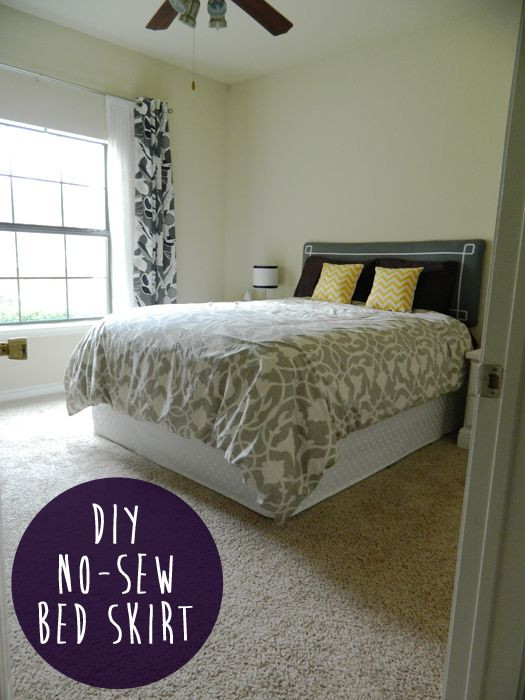 Best ideas about DIY Dorm Bed Skirt . Save or Pin DIY No sew Bed Skirt To Decorate Now.