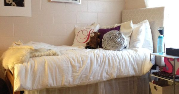 Best ideas about DIY Dorm Bed Skirt . Save or Pin DIY Dorm with homemade bed skirt and headboard dorm Now.