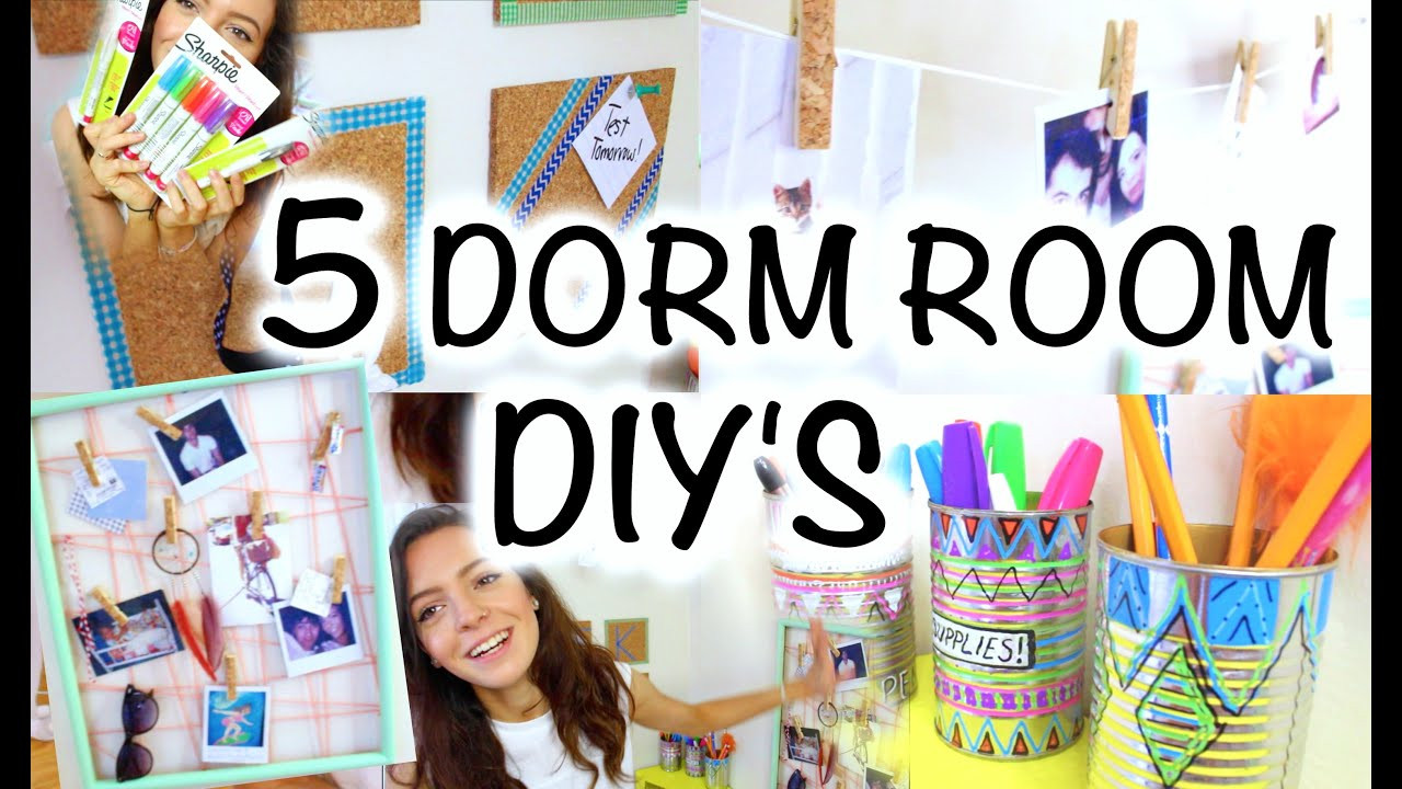 Best ideas about DIY Dorm Room Decorating . Save or Pin DIY DORM ROOM DECOR Now.