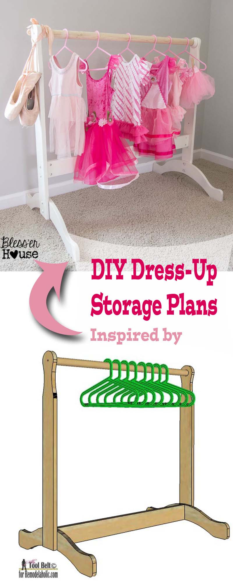 Best ideas about DIY Dress Up Storage . Save or Pin Remodelaholic Now.