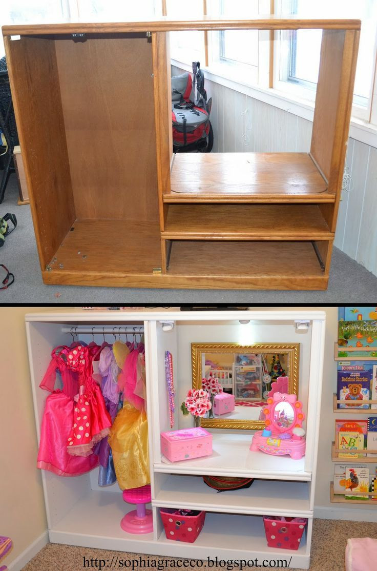 Best ideas about DIY Dress Up Storage . Save or Pin Sophia Grace & Co Dress up station for Sophias playroom Now.