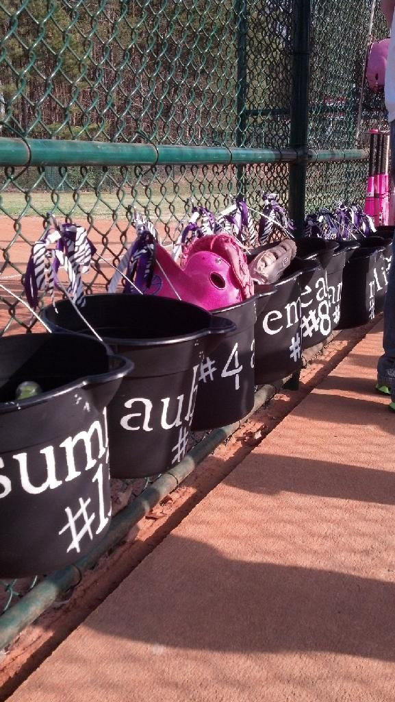 Best ideas about DIY Dugout Organizer . Save or Pin Dugout organizer Softball candy bags Softball party Now.