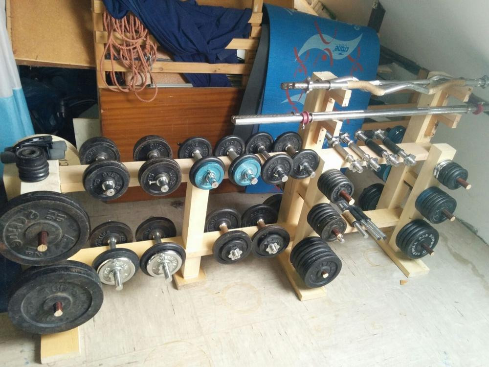 Best ideas about DIY Dumbbell Rack . Save or Pin DIY weight and dumbbell rack Bodybuilding Forums Now.