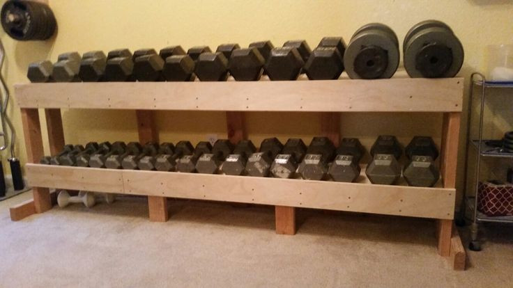 Best ideas about DIY Dumbbell Rack . Save or Pin Best 20 Diy dumbbell ideas on Pinterest Now.