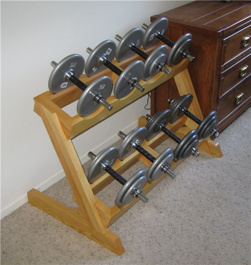 Best ideas about DIY Dumbbell Rack . Save or Pin Homemade dumbbell rack Bodybuilding Forums Now.