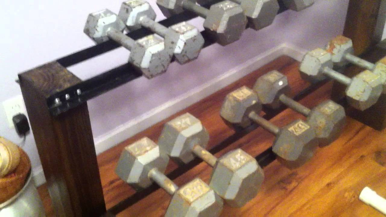 Best ideas about DIY Dumbbell Rack . Save or Pin DIY Dumbbell Rack Now.