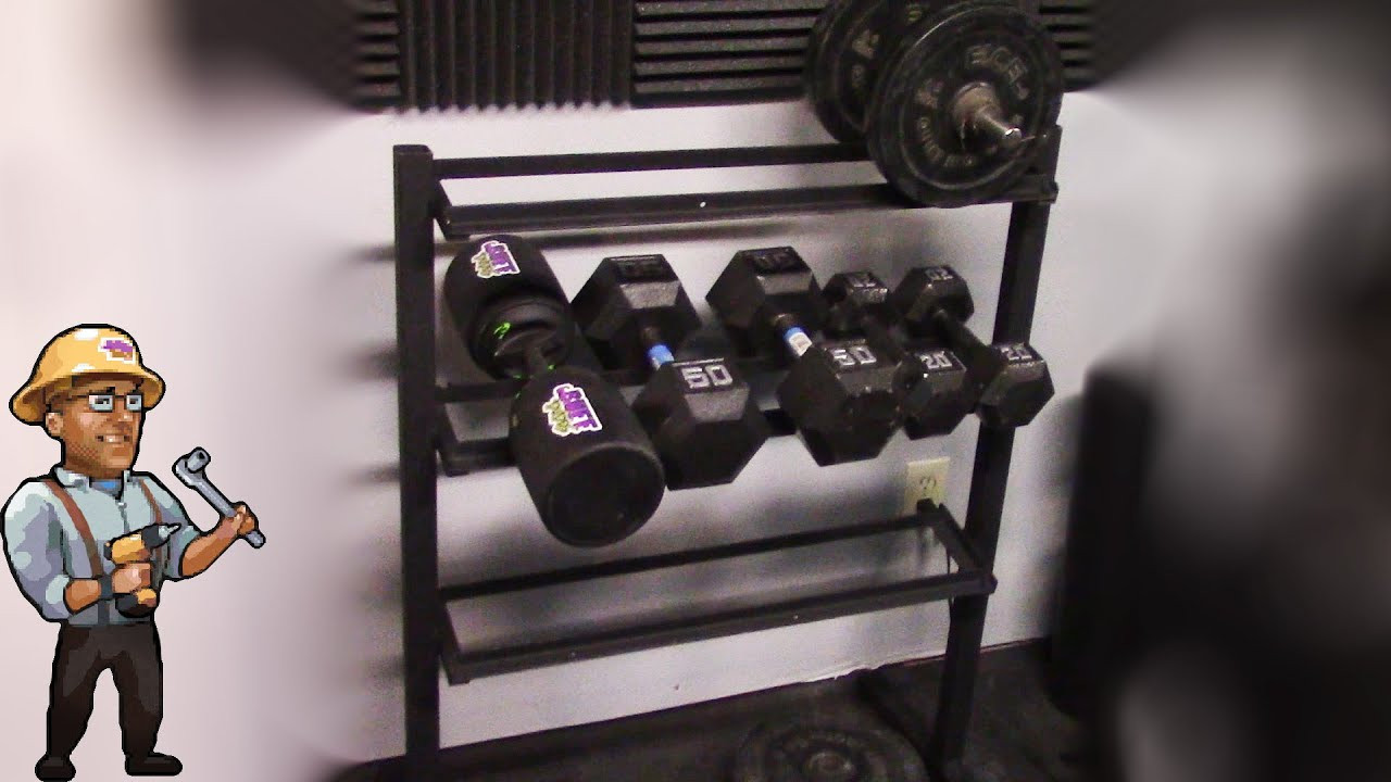Best ideas about DIY Dumbbell Rack . Save or Pin How to Build a Home Dumbbell Weight Rack DIY Now.
