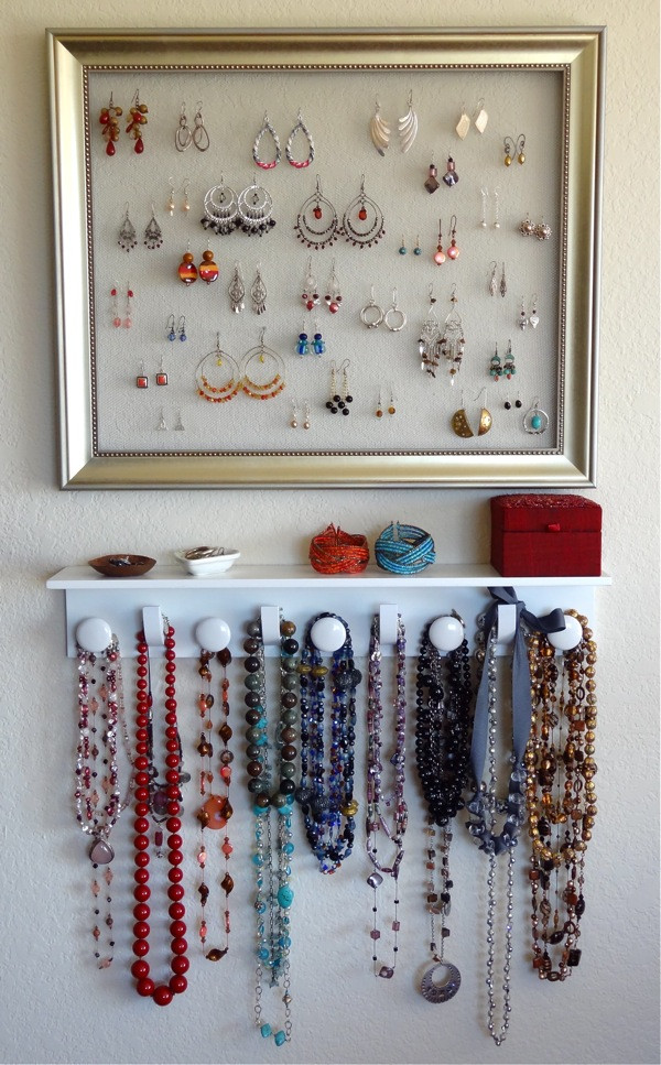 Best ideas about DIY Earring Storage . Save or Pin Twinkle and Twine DIY Jewelry Organizer Now.