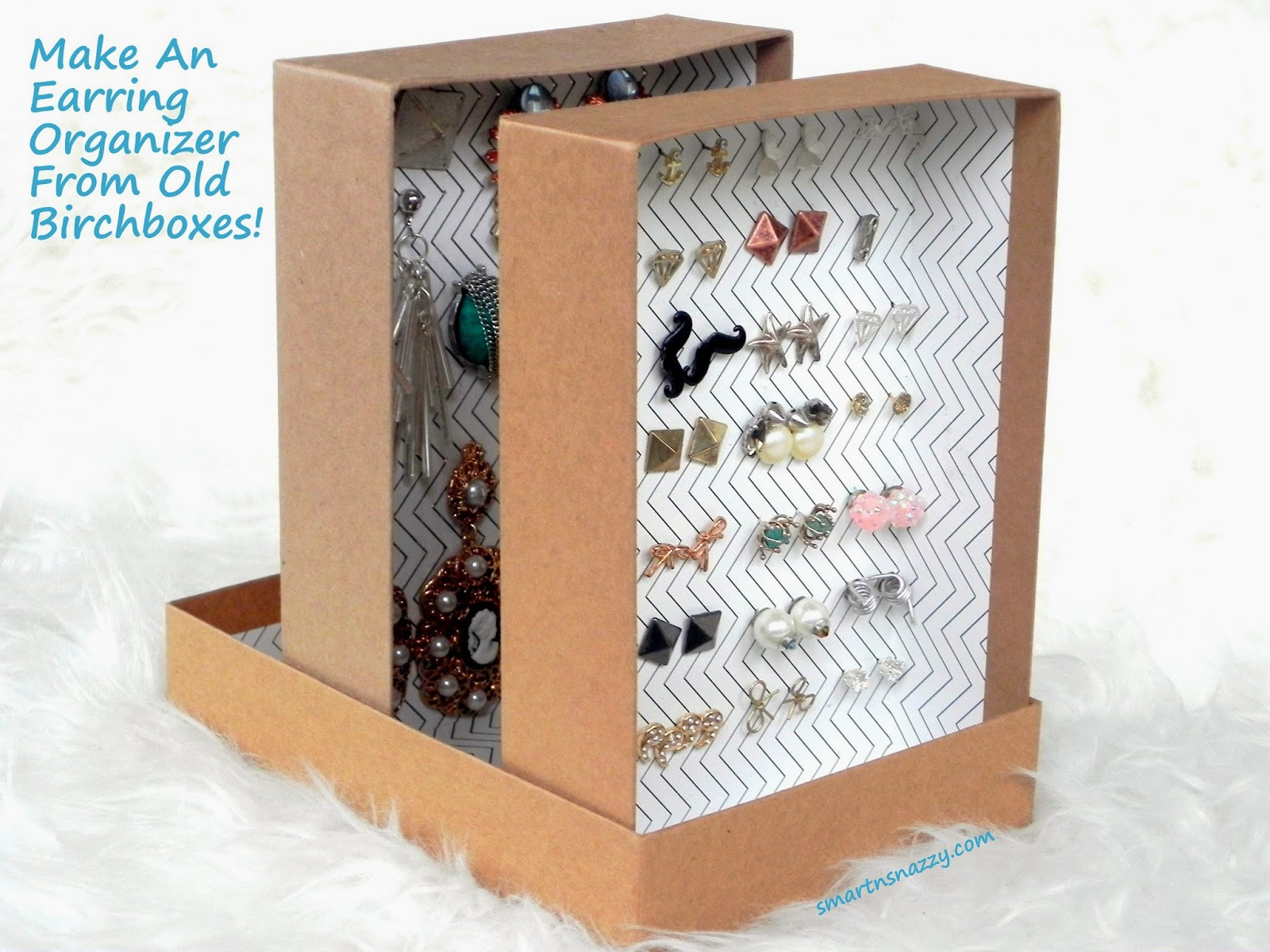 Best ideas about DIY Earring Storage . Save or Pin Smart n Snazzy DIY Upcycled Birchboxes Into Earring Now.