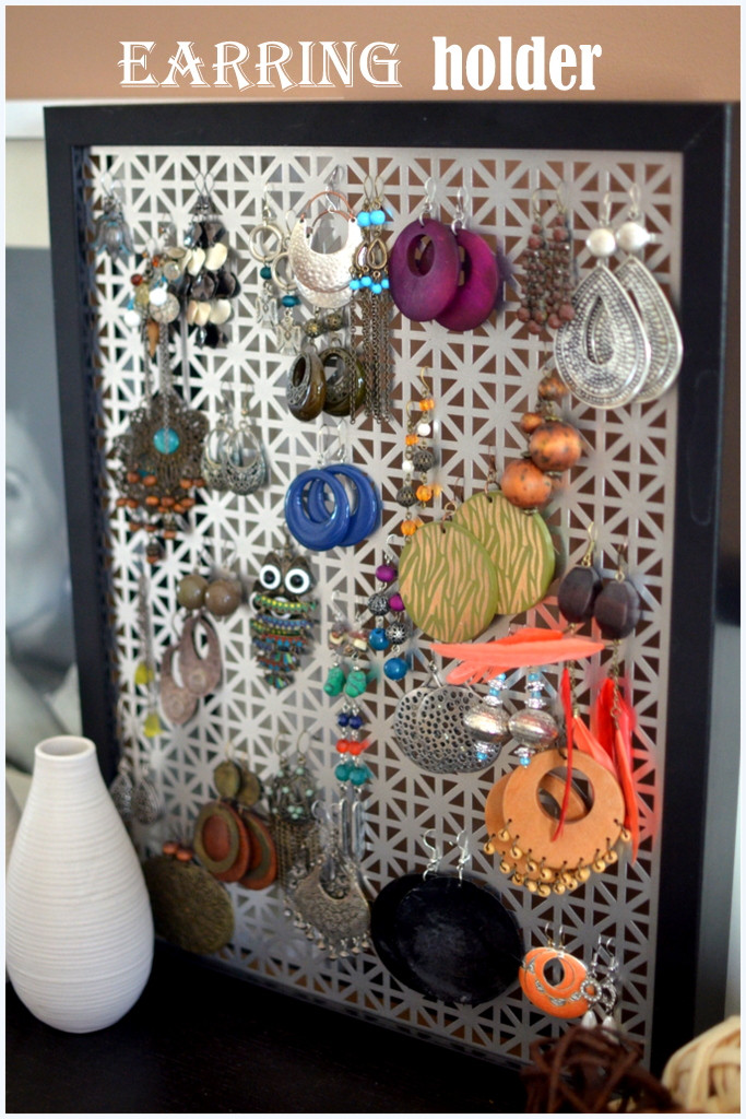 Best ideas about DIY Earring Storage . Save or Pin DIY Earring Holder PLACE OF MY TASTE Now.