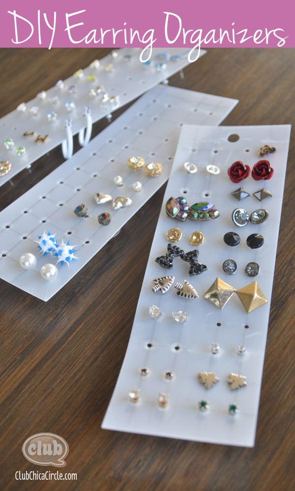 Best ideas about DIY Earring Storage . Save or Pin Easy Earring Organizer Craft Idea Now.