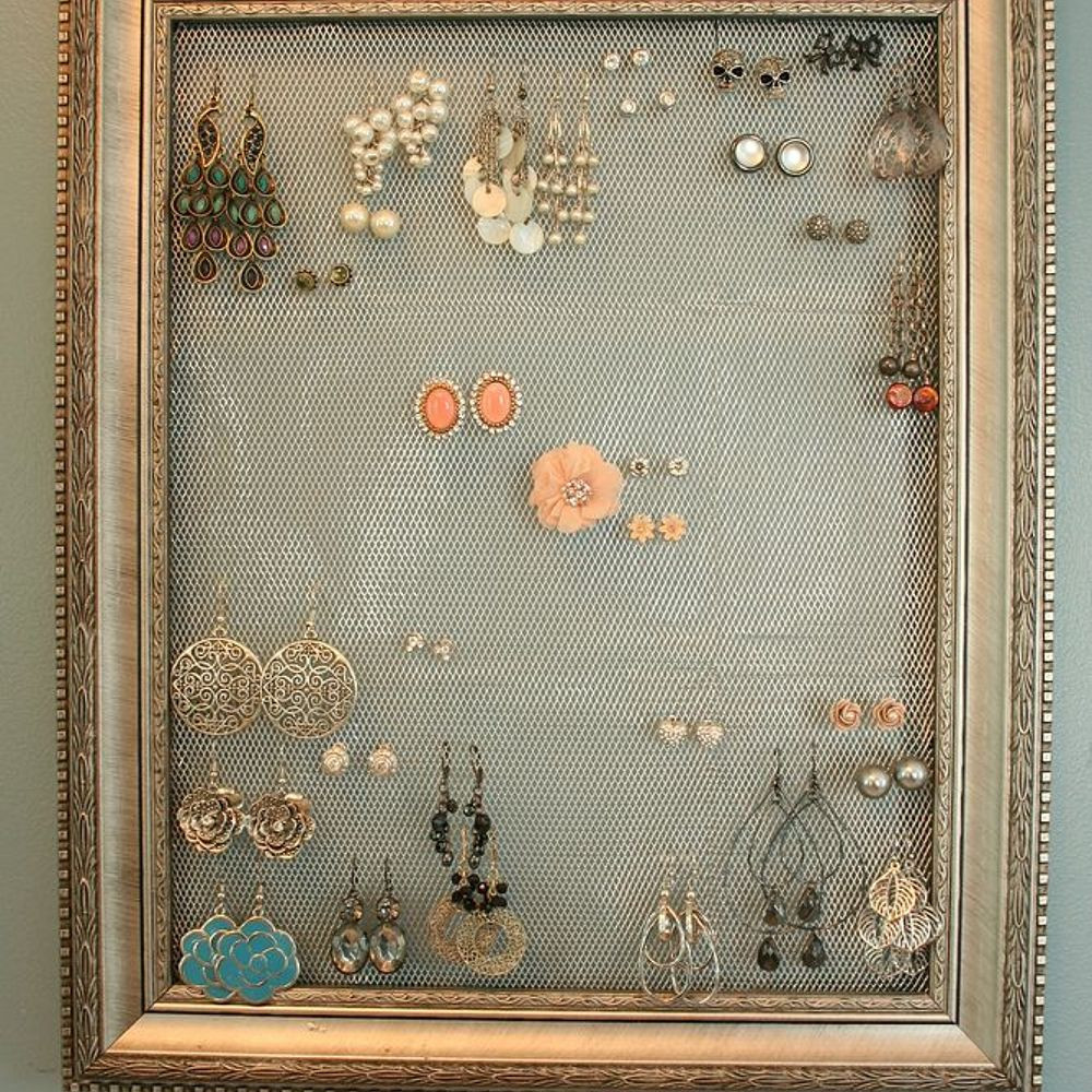 Best ideas about DIY Earring Storage . Save or Pin DIY Earring Holder Display Now.