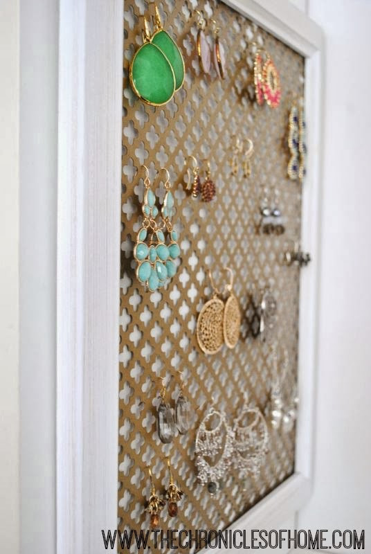 Best ideas about DIY Earring Storage . Save or Pin Five Minute Earring Organizer The Chronicles of Home Now.