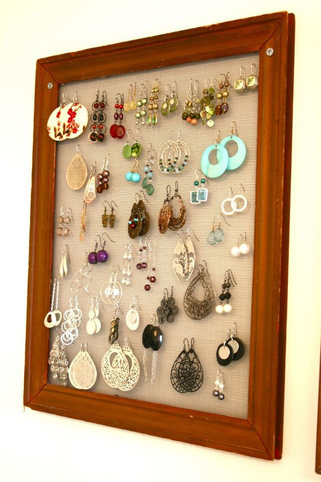 Best ideas about DIY Earring Storage . Save or Pin 1000 images about Earring holder DIY on Pinterest Now.