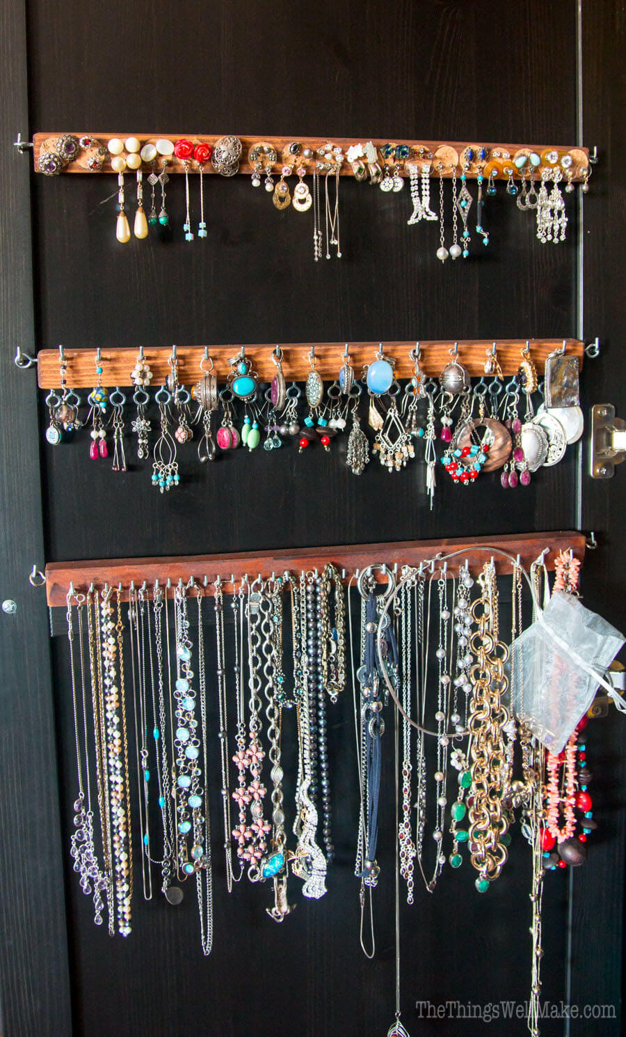 Best ideas about DIY Earring Storage . Save or Pin DIY Earring Holder for Studs & Display Organizer Oh Now.